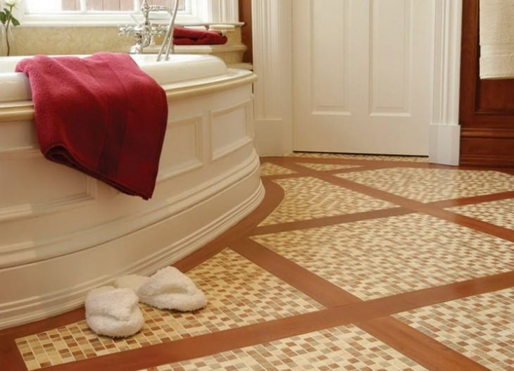 Stone tile bathroom floors have a natural beauty at the same time as being a particularly good practical choice for the bathroom.